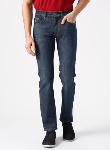 Beymen Business Regular Fit Denim Pantolon 4B0119200053 Lacivert